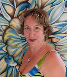 A portrait of artist Gigi Hoeller