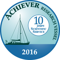 The Achiever 10 year scientific service pin.