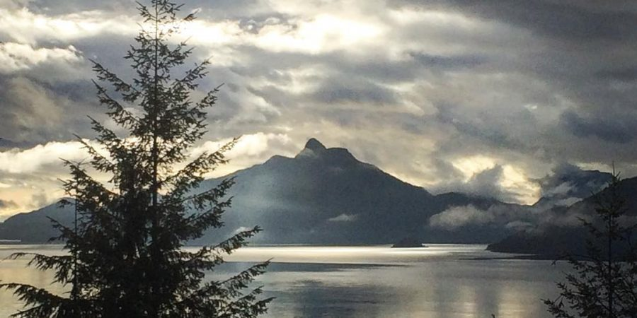 Howe Sound, at sunset.