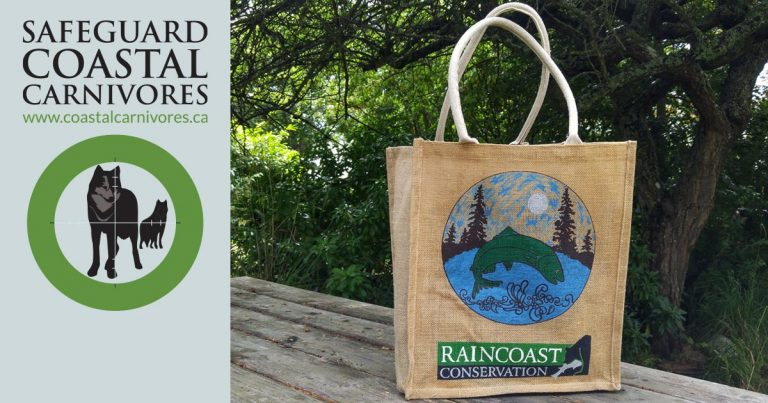 Reusable bags in support of Victoria vision and also Coastal Carnivores