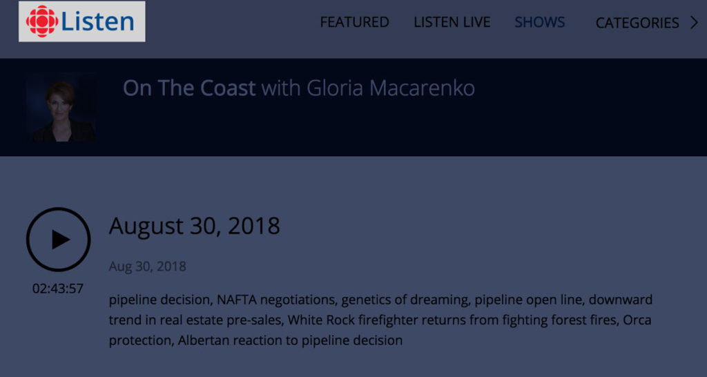 Misty MacDuffee with Gloria Macarenko on CBC's On the Coast