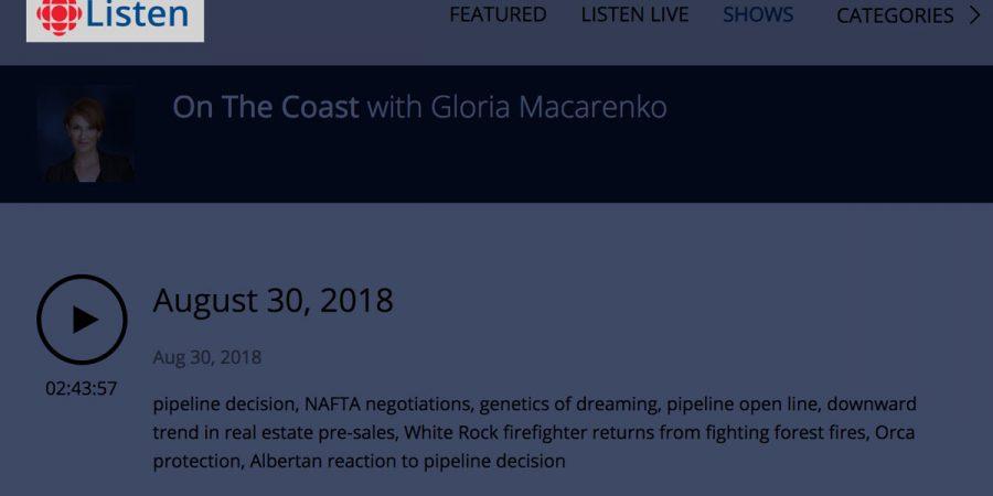 Misty MacDuffee with Gloria Macarenko on CBC's On the Coast