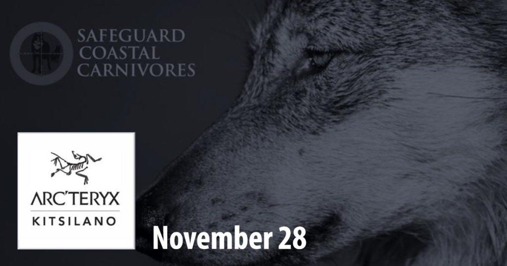 Fundraising event at Arc'teryx Kitsilano on November 30th.