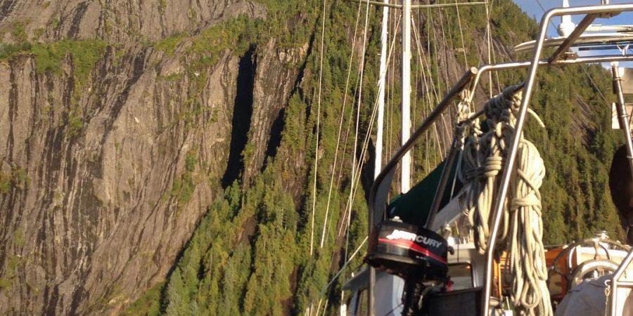 Achiever, Raincoast boat anchored in a beautiful spot