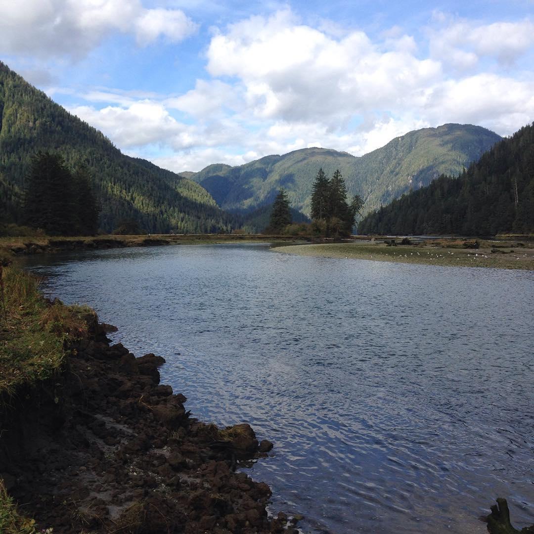 A river in Kitasoo/ Xai'xai Territory