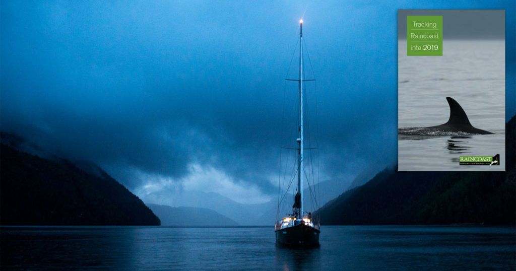 Achiever rests in the quiet of the Great Bear Rainforest coast.