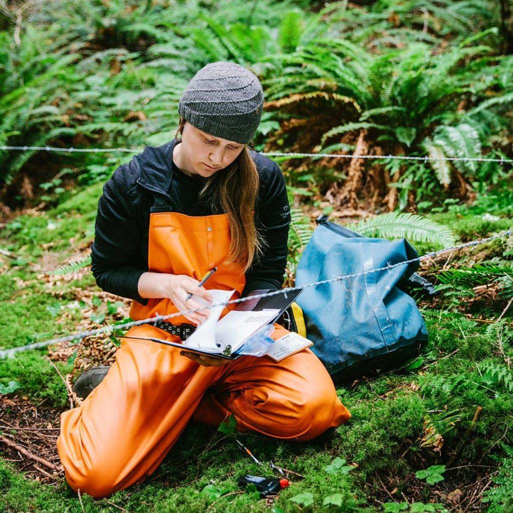 Megan Adams, Raincoast biologist and Raincoast- Hakai scholar is elad author of recent study on importance of salmon habitat for wildlife conservation