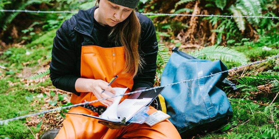 Megan Adams, Raincoast biologist and Raincoast- Hakai scholar is elad author of recent study on importance of salmon habitat for wildlife conservation