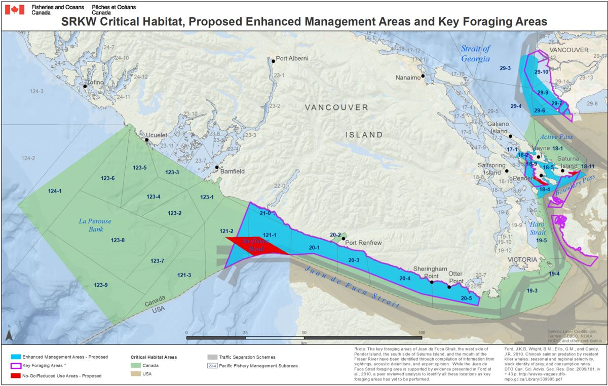 DFO Key Foraging Areas map 2019