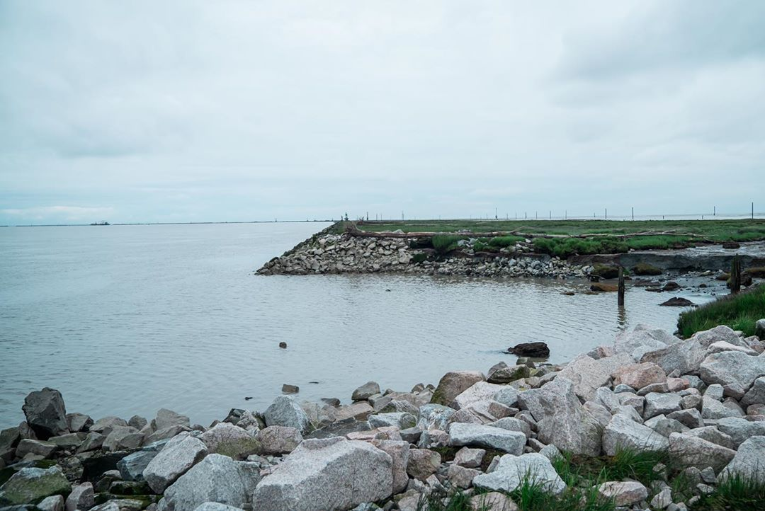 Rocks and boulders blasted away to create a breach in Steveston jetty