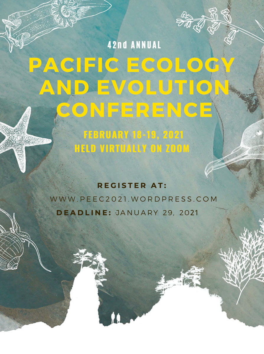 Poster cover for 2021 Pacific Ecology and Evolution Conference.