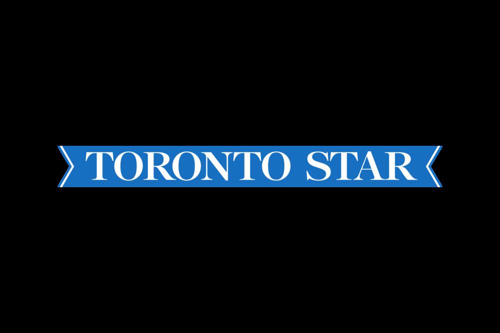 Toronto Star logo on blue ribbon.